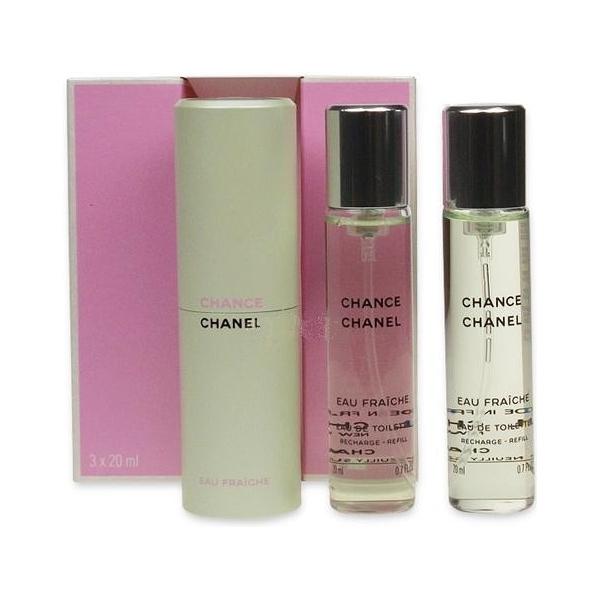 Chanel Chance Eau Fraiche — туалетная вода 3*20ml для женщин (сменный блок)