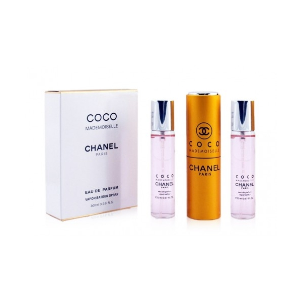 Chanel Coco Mademoiselle — парфюмированная вода 3*20ml для женщин Gabrielle Chanel