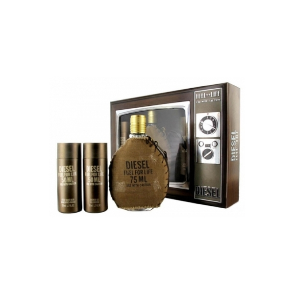Diesel Fuel For Life — набор (edt 50ml+a/sh balm 50ml+sh/gel 50ml) для мужчин