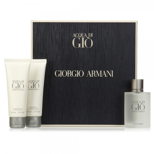 Giorgio Armani Acqua di Gio — набор (edt 100ml+a/sh balm 75ml+sh/gel 75ml) для мужчин