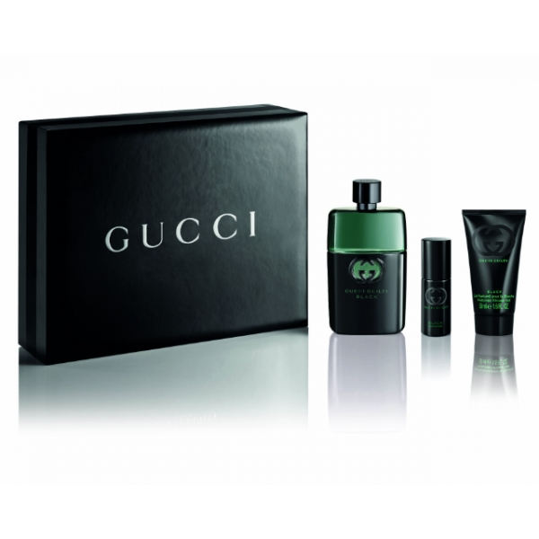 Gucci Guilty Black Pour Homme — набор (edt 90ml+edt 8ml+sh/gel 50ml) для мужчин
