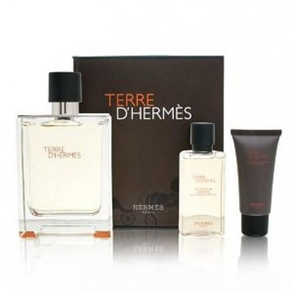 Hermes Terre D`Hermes — набор (edt 100ml+edt 12ml+a/sh balm 40ml) для мужчин
