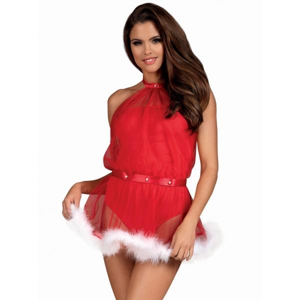 Нарядное эротичное платье Santastic dress costume