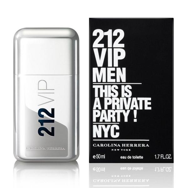 Carolina Herrera 212 Vip Men — туалетная вода 50ml для мужчин