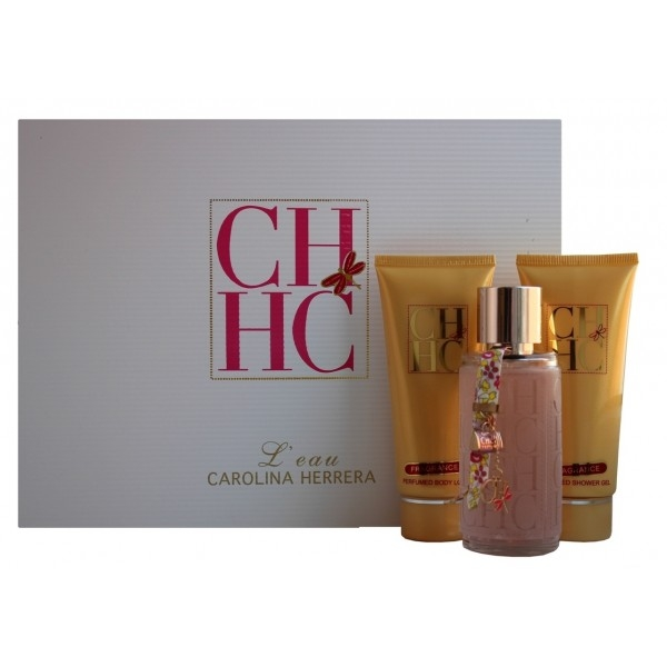 Carolina Herrera CH L`eau — набор (100ml edp+100ml body lotion+100ml body cream) для женщин лицензия