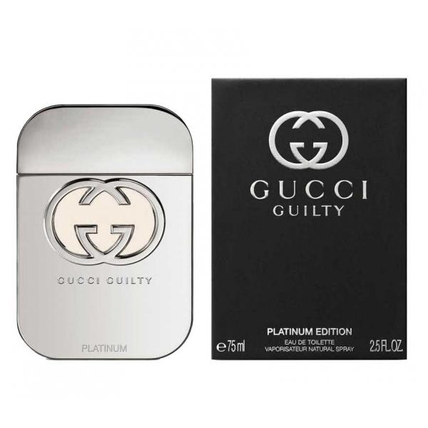 Gucci Guilty Platinum Edition — туалетная вода 75ml для женщин лицензия (lux)