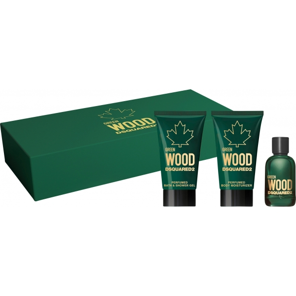 Dsquared2 Wood Green Pour Homme — набор (edt 5ml+a/sb 25ml+sh/gel 25ml) для мужчин