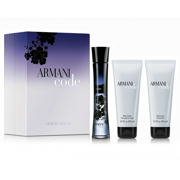 Giorgio Armani Code — набор (edp 75ml+b/lot 75ml+sh/gel 75ml) для женщин
