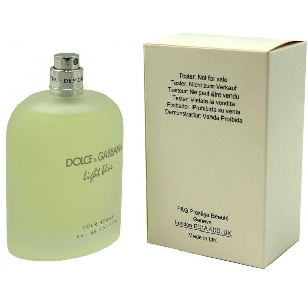 Dolce & Gabbana Light Blue Pour Homme — туалетная вода 125ml для мужчин ТЕСТЕР ЛИЦЕНЗИЯ LUX