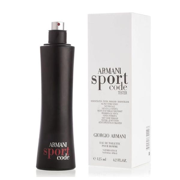 Giorgio Armani Code Sport — туалетная вода 125ml для мужчин ТЕСТЕР ЛИЦЕНЗИЯ LUX